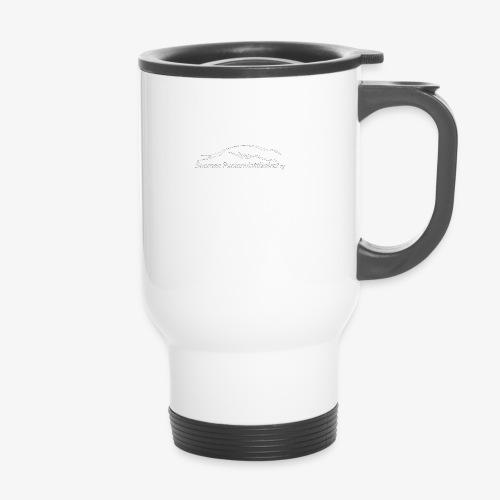 SUP logo valkea - Kahvallinen termosmuki