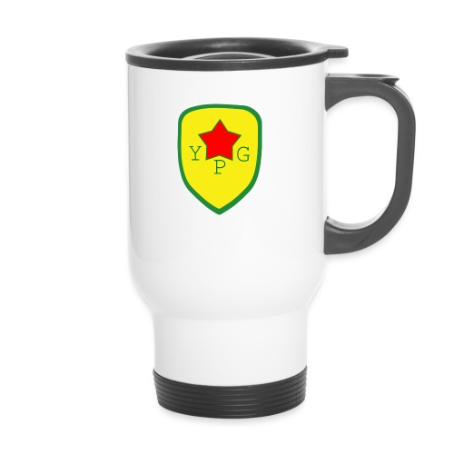 Unisex Red YPG Support Hoodie - Kahvallinen termosmuki