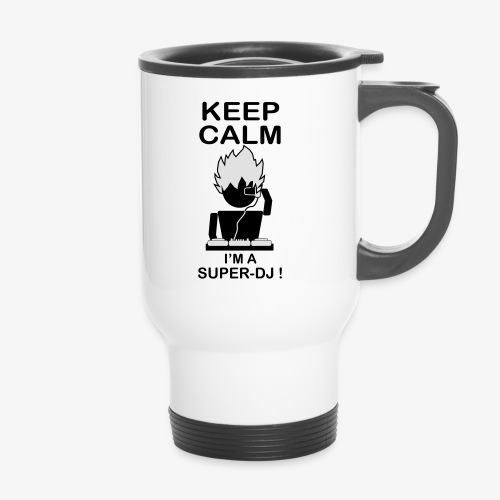 KEEP CALM SUPER DJ B&W - Mug thermos