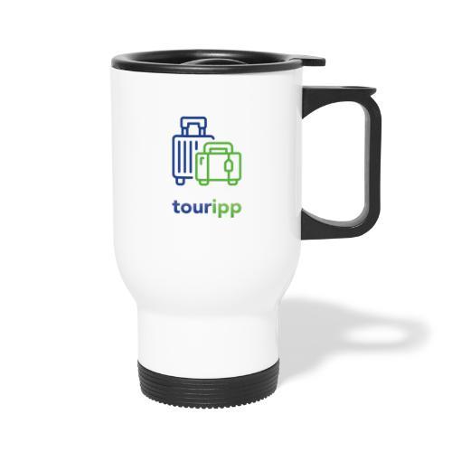 Logo con valigie - Tazza termica con manico per il trasporto