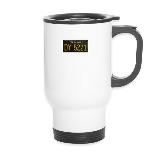 CALIFORNIA BLACK LICENCE PLATE - Thermal mug with handle
