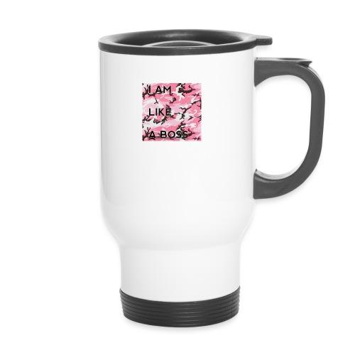 i am loke a boss premium pink camo - Thermobecher
