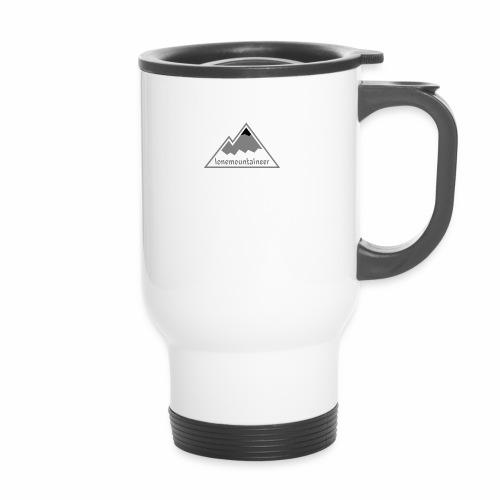 Lonemountaineer logo blk - Travel Mug