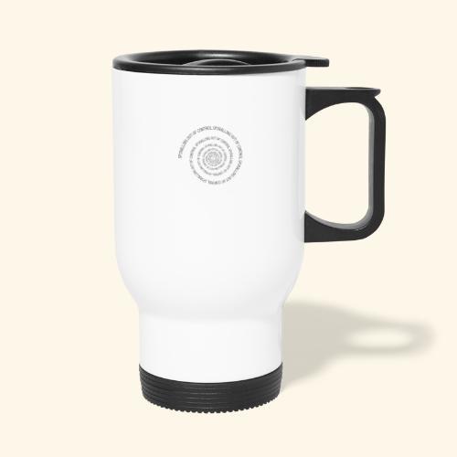 SPIRAL TEXT LOGO BLACK IMPRINT - Travel Mug