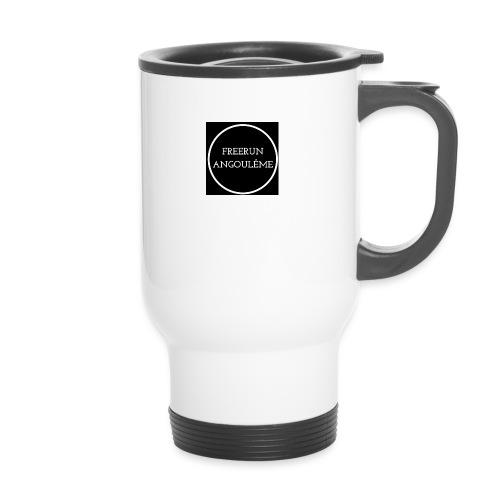 Freerun Angouleme noir logo - Mug thermos