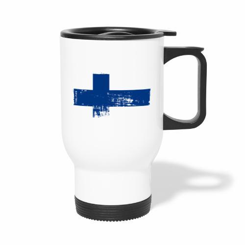 Suomen lippu, Finnish flag T-shirts 151 Products - Kahvallinen termosmuki