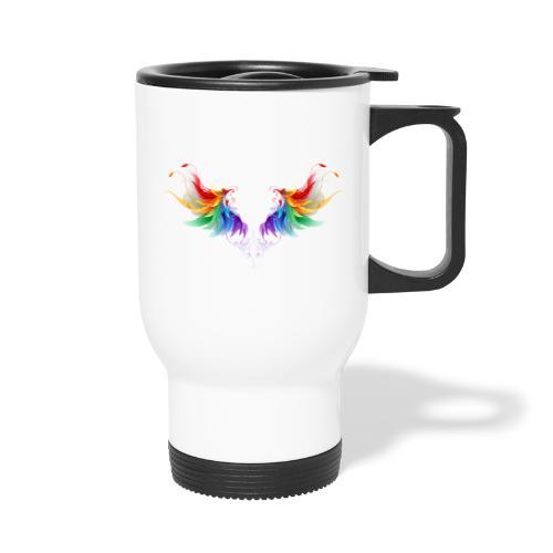 Ailes d'Archanges aux belles couleurs vives - Tasse isotherme avec poignée