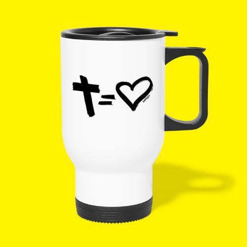 Cross = Heart BLACK - Travel Mug