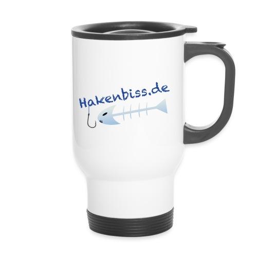 HakenbissLogoBlau - Thermobecher mit Tragegriff