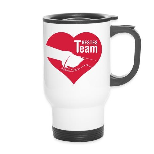 Vorschau: Bestes Team - Thermobecher mit Tragegriff