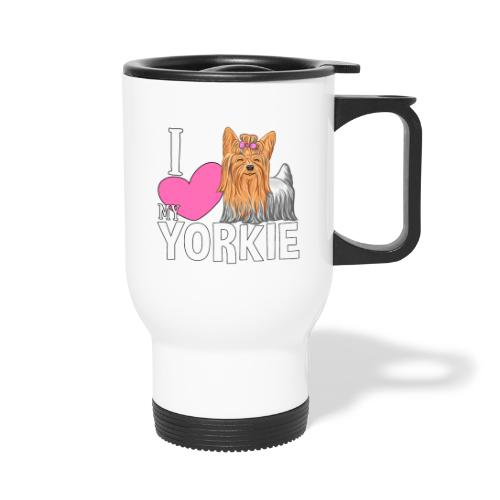 I love my Yorkie - Kahvallinen termosmuki
