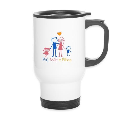 Pai Mãe e Filhos - Thermal mug with handle