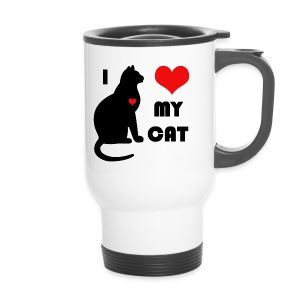 I love my cat - Mug thermos
