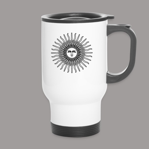 FOLK HORROR REVIVAL Black on white - Thermal mug with handle