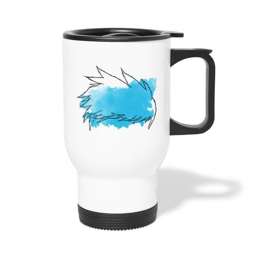Blue Splat Original - Thermal mug with handle
