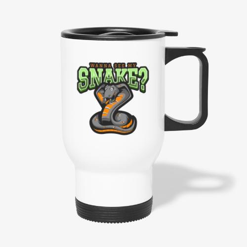 Wanna see my Snake III - Kahvallinen termosmuki