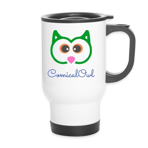 Cartoon Owl - Thermal mug with handle