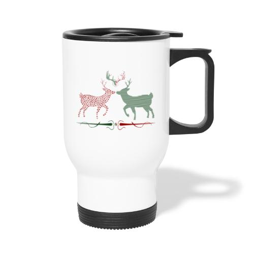 Christmas deer - Thermal mug with handle