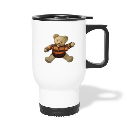 Teddybär - orange braun - Retro Vintage - Bär - Thermobecher mit Tragegriff