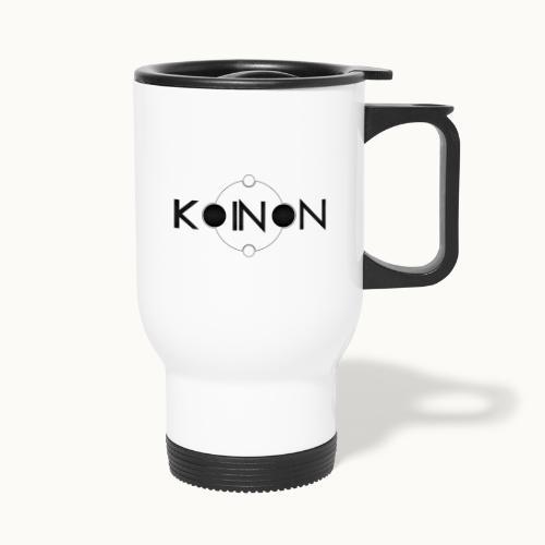 Koinòn Logo - Tazza termica con manico per il trasporto