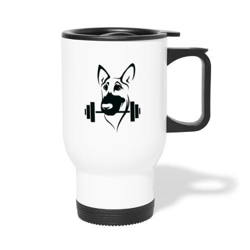 Weightlifting Doggo - Thermal mug with handle