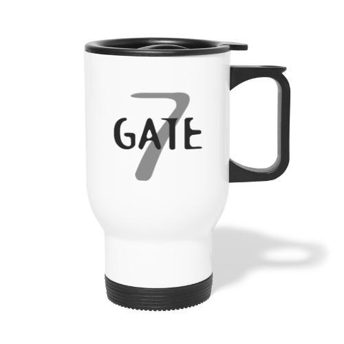 Gate-7 Logo dunkel - Thermobecher mit Tragegriff