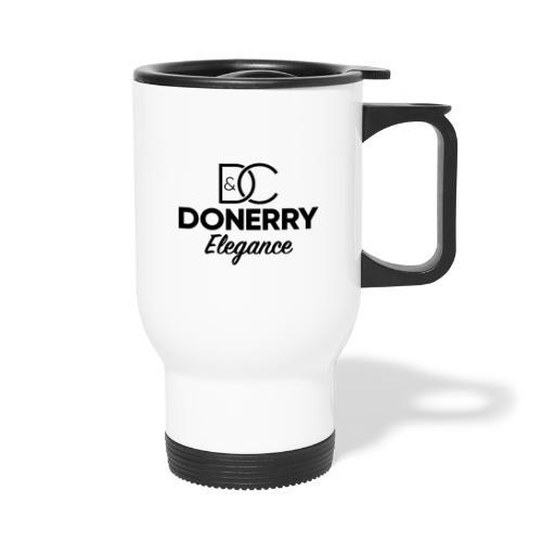 Donerry Elegance Black Logo on White - Thermal mug with handle