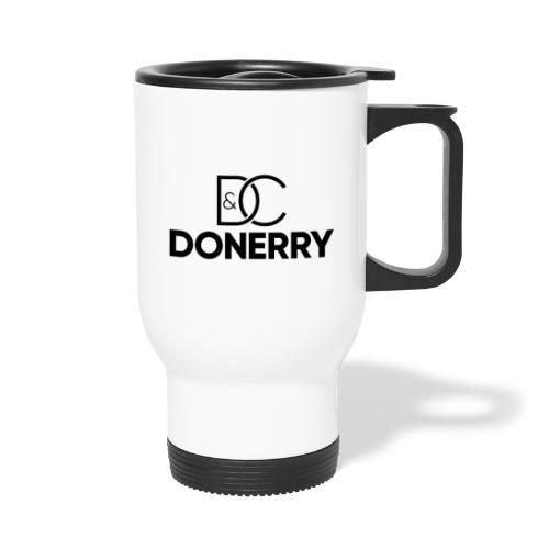 DONERRY Black Logo on White - Thermal mug with handle