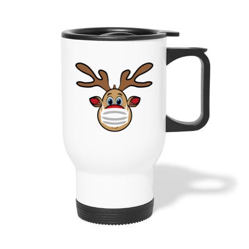 Ugly Xmas Rudi Reindeer mit Maske - Thermobecher