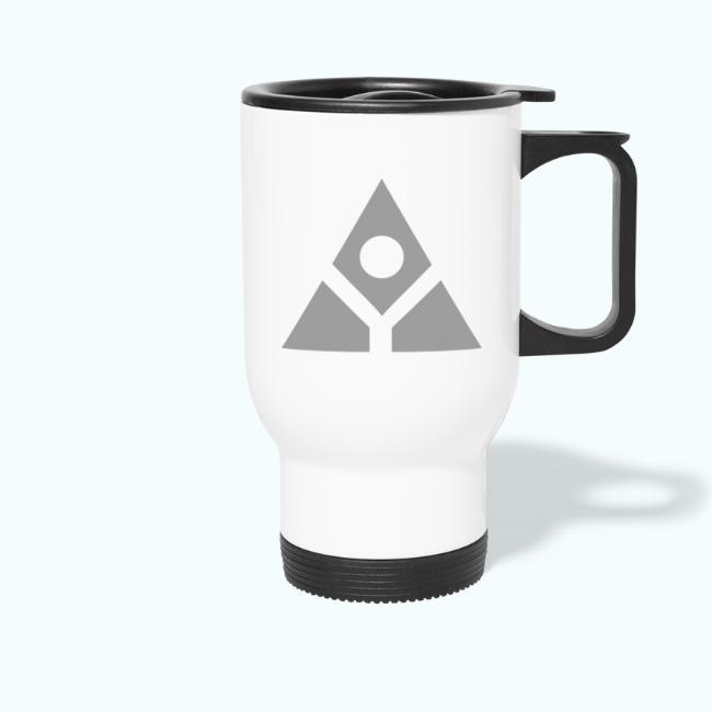 Sacred geometry gray pyramid circle in balance