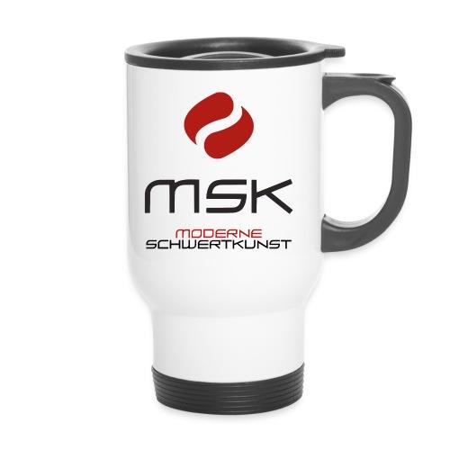 MSK Logo m. Schrift - Thermobecher mit Tragegriff