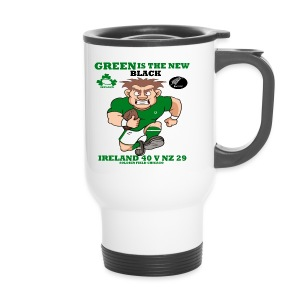 GREEN IS THE NEW BLACK !! - Travel Mug