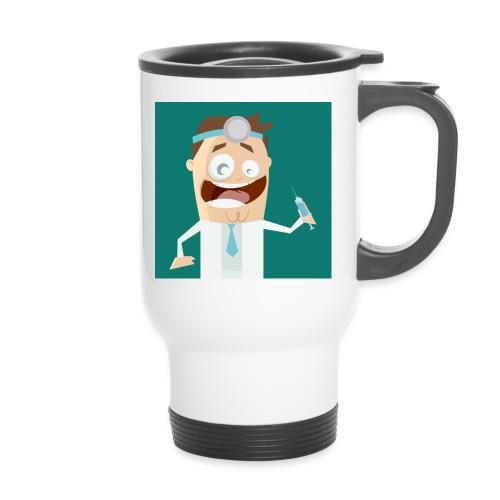Lustiger verrückter Arzt - Thermobecher