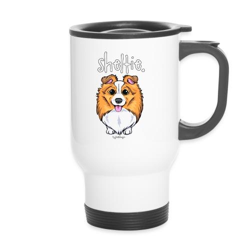 Sheltie Dog Cute 5 - Thermal mug with handle
