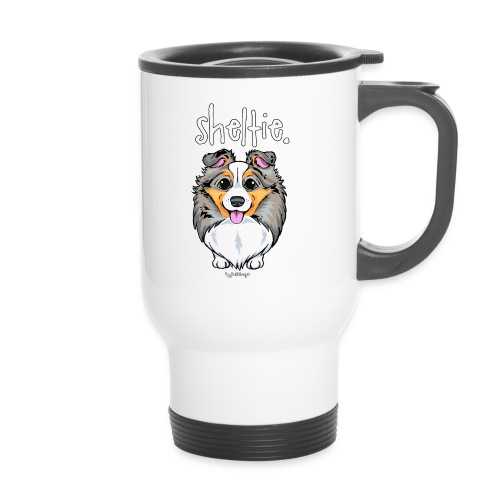 Sheltie Dog Cute 4 - Thermal mug with handle