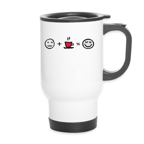 Coffee makes me happy - Thermobecher