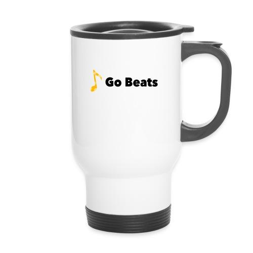 Logo with text - Thermal mug with handle