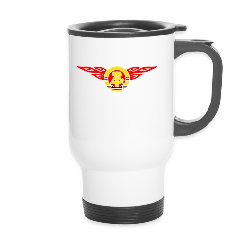 GDR flames crest 3c - Travel Mug