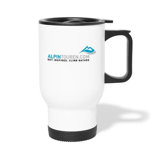 Alpintouren Logo - Thermobecher mit Tragegriff