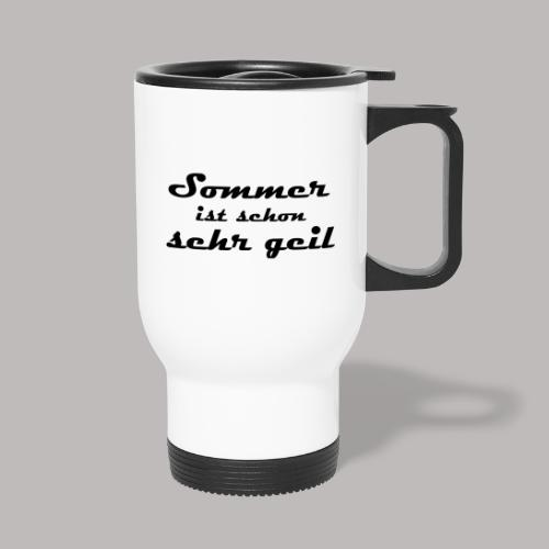 summer is very cool - Thermal mug with handle