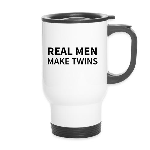 Real Men make Twins - Thermobecher mit Tragegriff