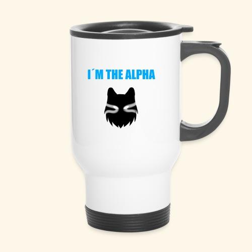 im the alpha - Kahvallinen termosmuki