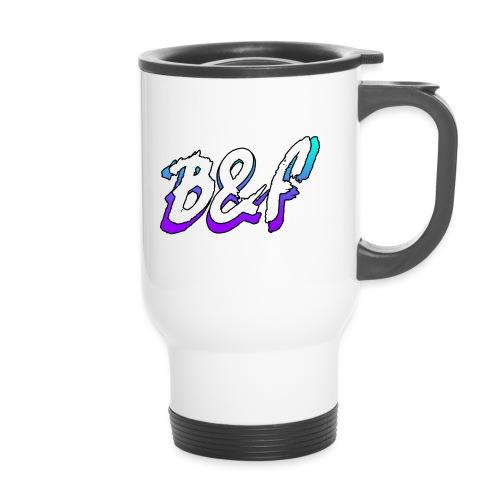 Purple and Blue Fade - Thermal mug with handle