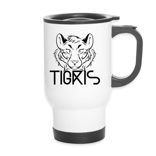 Tigris Logo Picture Text Black - Travel Mug