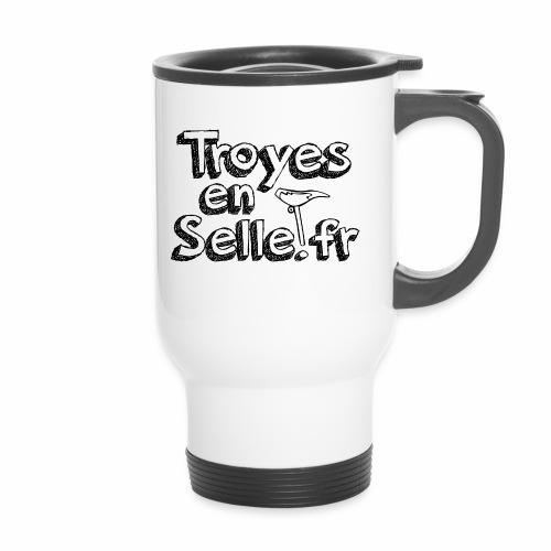 logo Troyes en Selle noir - Mug thermos