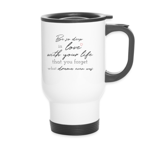 Love life grey - Thermobecher