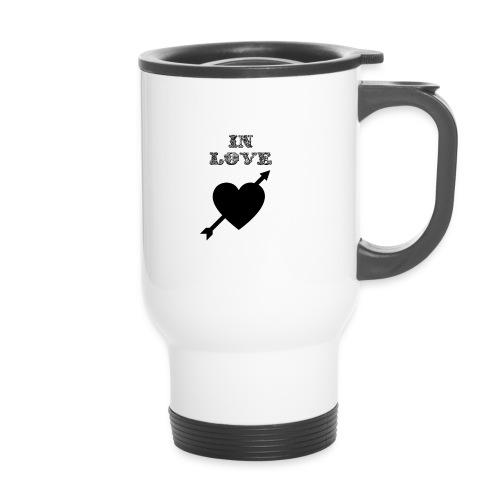 I'm In Love - Tazza termica con manico per il trasporto