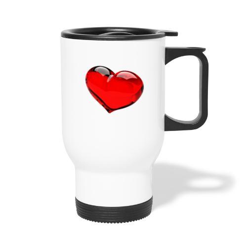 serce 3D - Kubek termiczny