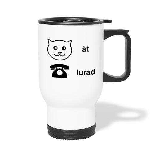 Katt åt telefon - Termosmugg
