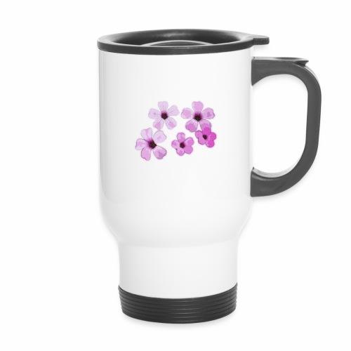 Blumen violett - Thermobecher